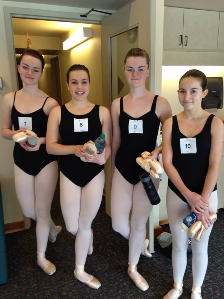 Intermeidate Ballet Candidates ready for their examination